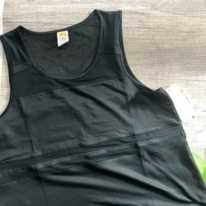 Emerald Green Workout Top w/ Mesh Inserts